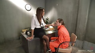 The Interrogator Makes Him Suck Cock