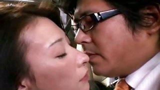 Hhorny milf blowjob & fucked on bus