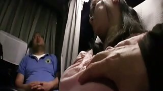 Sleepy Milfs groped on a bus 1