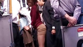 Young collegegirl reluctant public bus orgasm clip