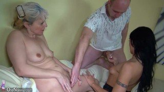 OldNannY Granny And Teen Threesome Action