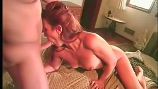 Lusty redhead hottie receives a proper pounding in the bedroom