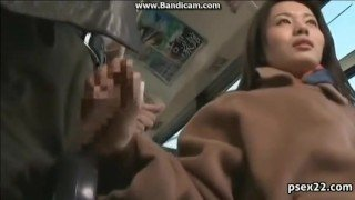 TEEN ASIAN PERFORM MULTIPLE HANDJOB ON THE BUS 2