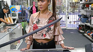 Tiffany Rain in Asian Chick Exchanges Family Sword For White Man Flesh Sword - BangBros
